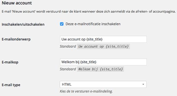 Nieuw account e-mail