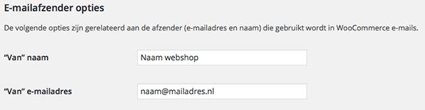 WooCommerce emailopties