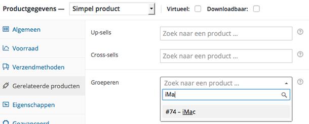 WooCommerce product groeperen