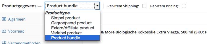 Product bundles instellen
