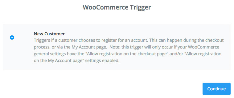 customer trigger