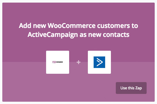 woocommerce activecampaign zap
