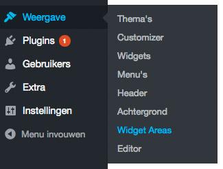 wp menu